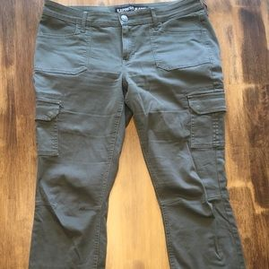 Express Olive green cargo pants. Size 12. NWOT!